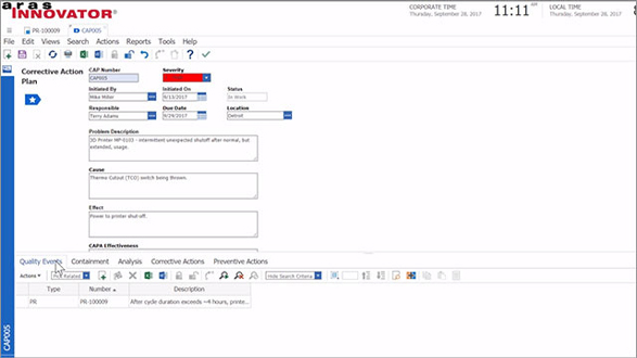 Login – Aras Innovator Demo Series – Closing the Loop – Quality Management with the Aras PLM Platform
