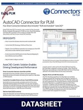 AutoCAD Connector Datasheet Image